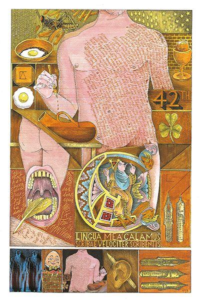 John Vernon Lord. The Folio Society. Shem Illustrated edition of Finnegan's Wake