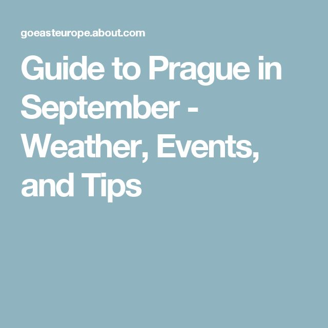 Guide to Prague in September - Weather, Events, and Tips