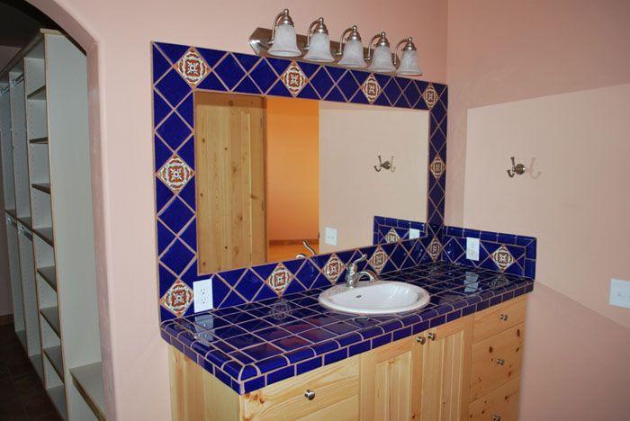 Decoracion De Baños Rusticos Con Talavera:Baño mediterráneo, Azulejos mexicanos and Mexicanos on Pinterest