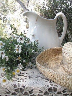 ironstone and daisies