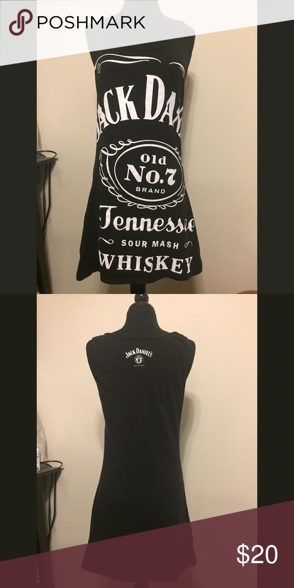 Jack Daniels dress Jack Daniels official merchandise dress. Labeled size L but fits more like a S/M very stretchy tank style Dresses Mini