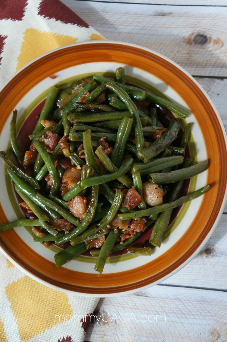 Green Bean, Bacon and Onion saute.  Whats  to say other than to say its delicious*  This goes together very quickly and is not only good for the Holidays. Its  a nice choice for  using up the Home grown beans. Its  a perfect side for  sauteed Fish. Especially Cod.