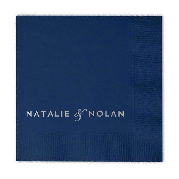 Block Names Foil-Stamped Cocktail Napkins | More Colors