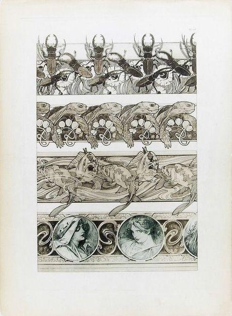 Documents Décoratifs Plate 60, 1902, Alphonse Mucha