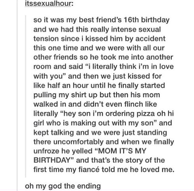 I want this to happen to me!! It's so cute and awkward!!