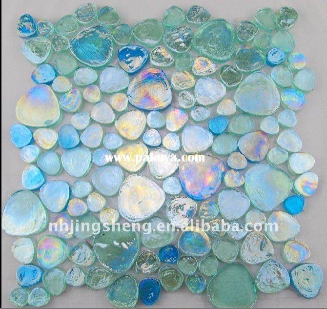 Beautiful iridescent glass tiles…