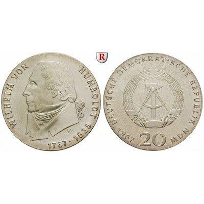 DDR, 20 Mark 1967, von Humboldt, st, J. 1520: 20 Mark 1967. von Humboldt. J. 1520; stempelfrisch 75,00€ #coins