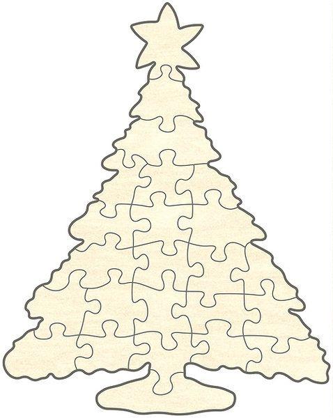 Blankopuzzle Christbaum,
