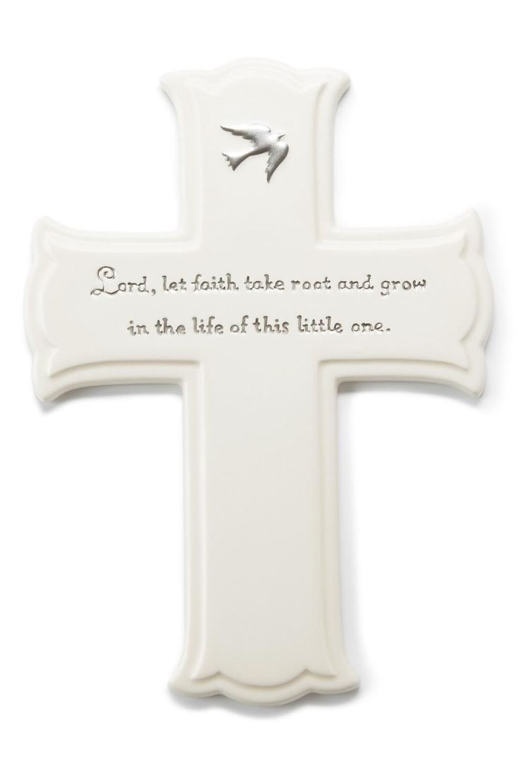 """Unique baptism gifts from Hallmark. """"Lord, let faith take"""