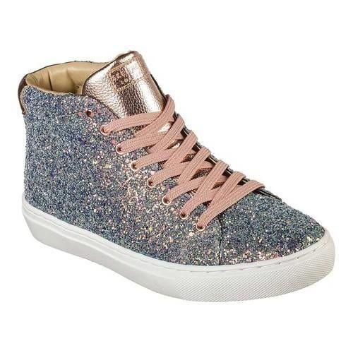 e7c642bfbf9b Skechers Women s Side Street Night Life High Top Sneaker Gold Multi
