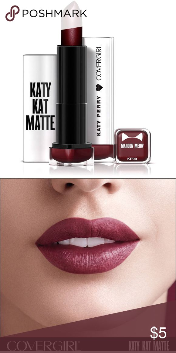 Katy Kat Matte Maroon Meow Brand new, never opened or used Covergirl Katy Kat Matte lipstick in Maroon Meow. Covergirl Makeup Lipstick