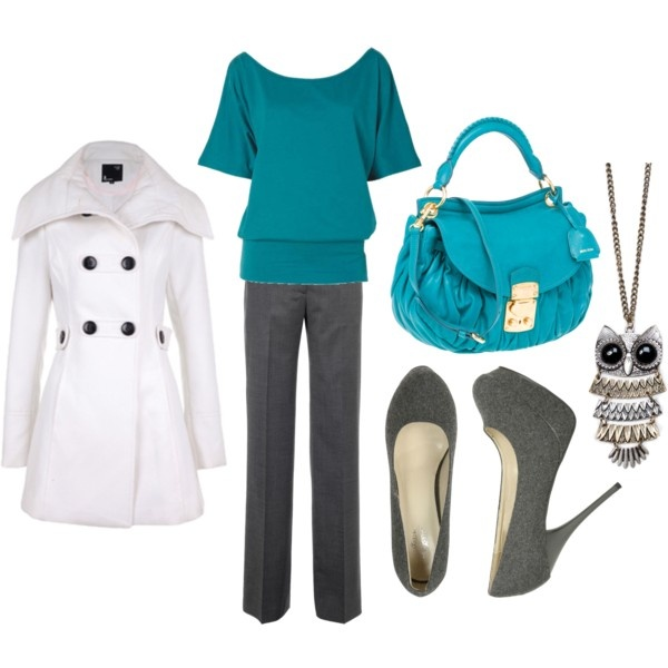 Turquoise Gray: Winter Work Outfit, Winter Work Clothing, Fashion, Color Combos, White Coats, Workcloth, Winter Work Clothes, Jackets, Trench Coats