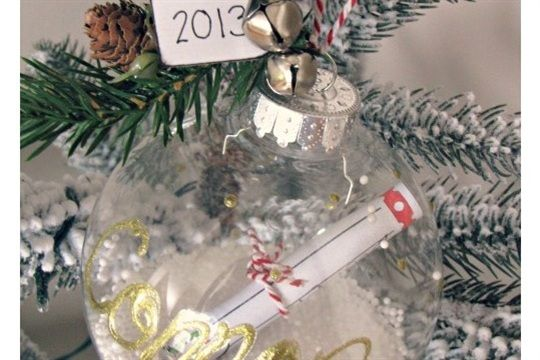 Dollar Store Crafts ? Blog Archive ? Snowglobe Ornaments from Dollar Store Party Goblets - Craftsmile