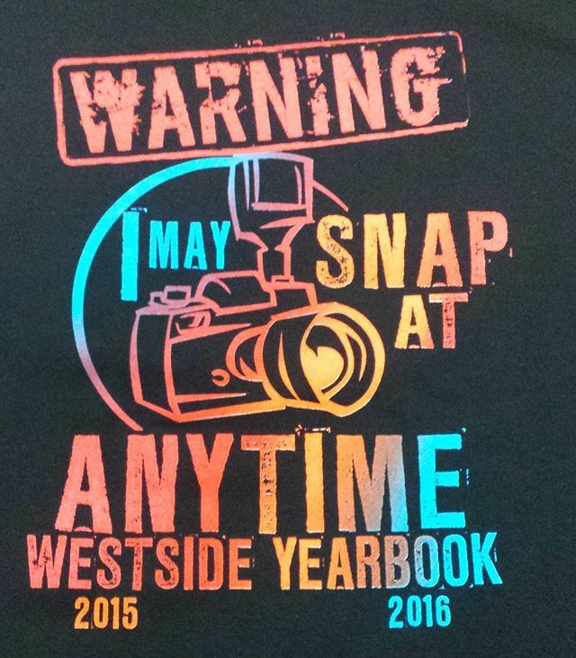 Great design for your next order of t-shirts for your yearbook staff. We can…