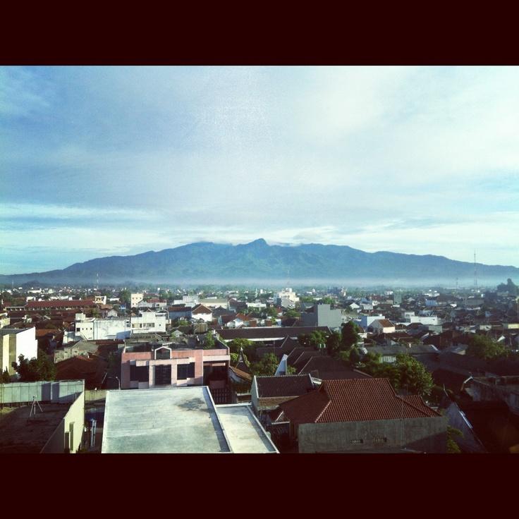View from Hotel Santika Tasikmalaya, West Java.