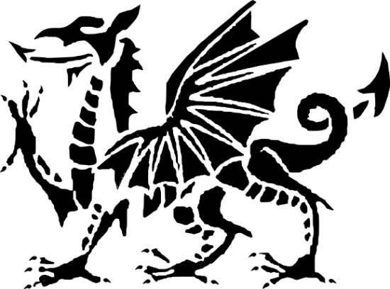 Free Printable Welsh Pumpkin Stencils for Halloween - Dragon .