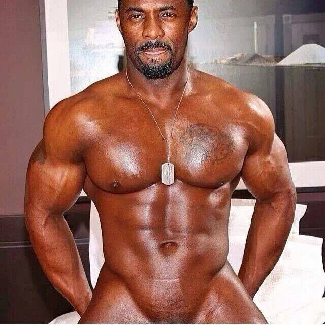 Idris Elba...Not!! This is obviously a photoshop hack job. But still...