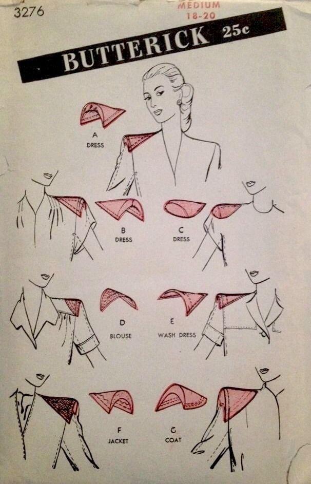 1940's Vintage Miss' Dress Shoulder Pads Set Butterick Sewing Pattern #4276 *FF*