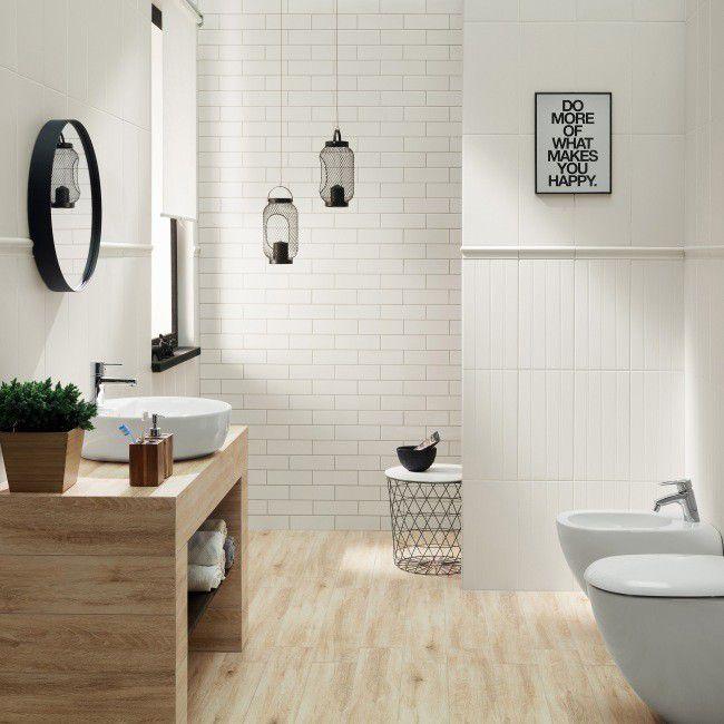 Glazura Grafite Arte 22 3 X 44 8 Cm Biala 1 5 Cm Plytki Scienne Plytki Scienne Podlogowe I Elewacyjne Wykonczenie Bathroom White Tub Vanity