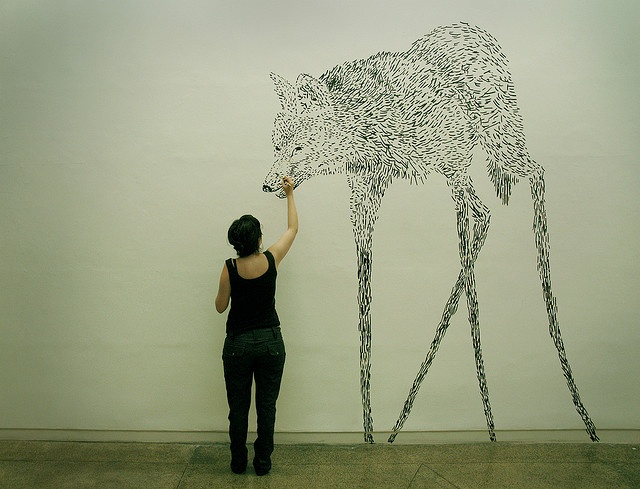 Wolf, dang awesome wall art. I'm going to own my own flat one day and this is what my walls will look like!
