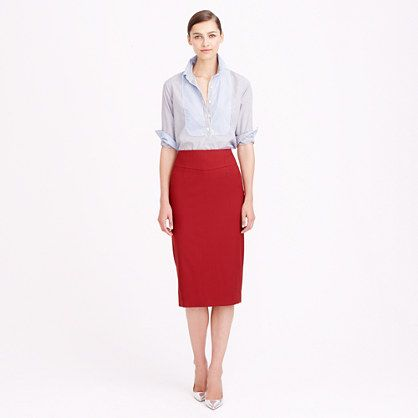this perfect pencil skirt comes in a million different colors and is 40% during J. Crew's Labor Day Sale!
