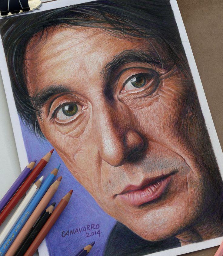 As obras do ilustrador argentino Nestor Canavarro recriam personagens famosos e atores em um estilo hiperrealista incrível, apenas com lápis de cor.