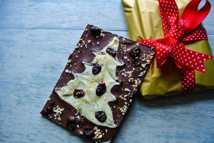 spiced chocolate slab, full of christmas chocolate flavour. Great teachers gift.