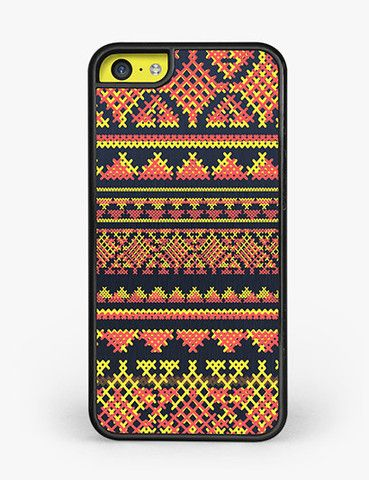 YELLOW + RED Aztec Pattern iPhone 5C Case