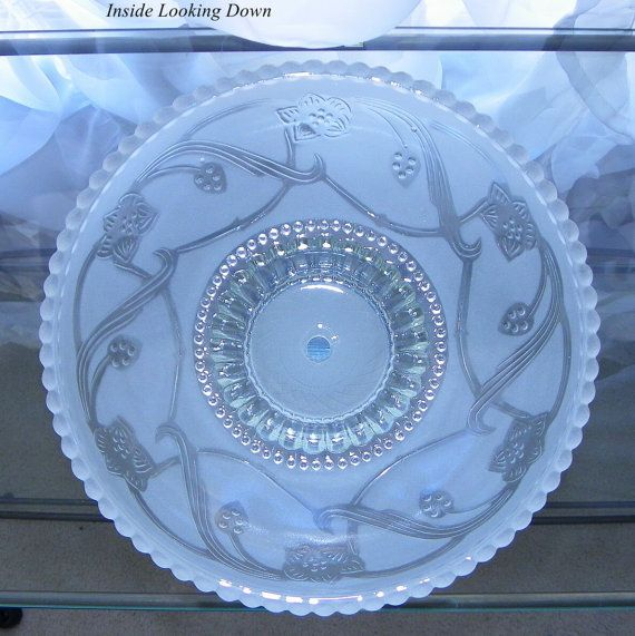 Vintage Ceiling Light Cover Frosted Glass By