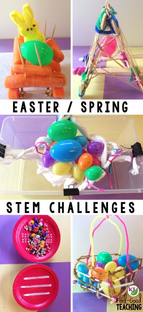 Teacher dilemma: you want to do fun Easter activities for spring, but only it it's fun with substance! These five Easter / Spring STEM Challenges keep your students engaged in problem-solving, critical thinking, and brain-busting collaborative work, disguised as fun. <<< Click through >>> to the blog for details, video walk-throughs, resources, and more! Looking for elementary resources or middle school resources? These challenges include modifications for grades 2 - 8.