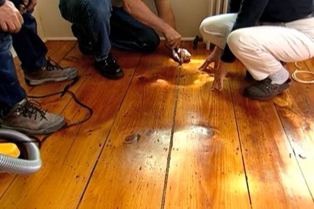 How To Fill Gaps In A Wide Plank Wood Floor Stains Toms