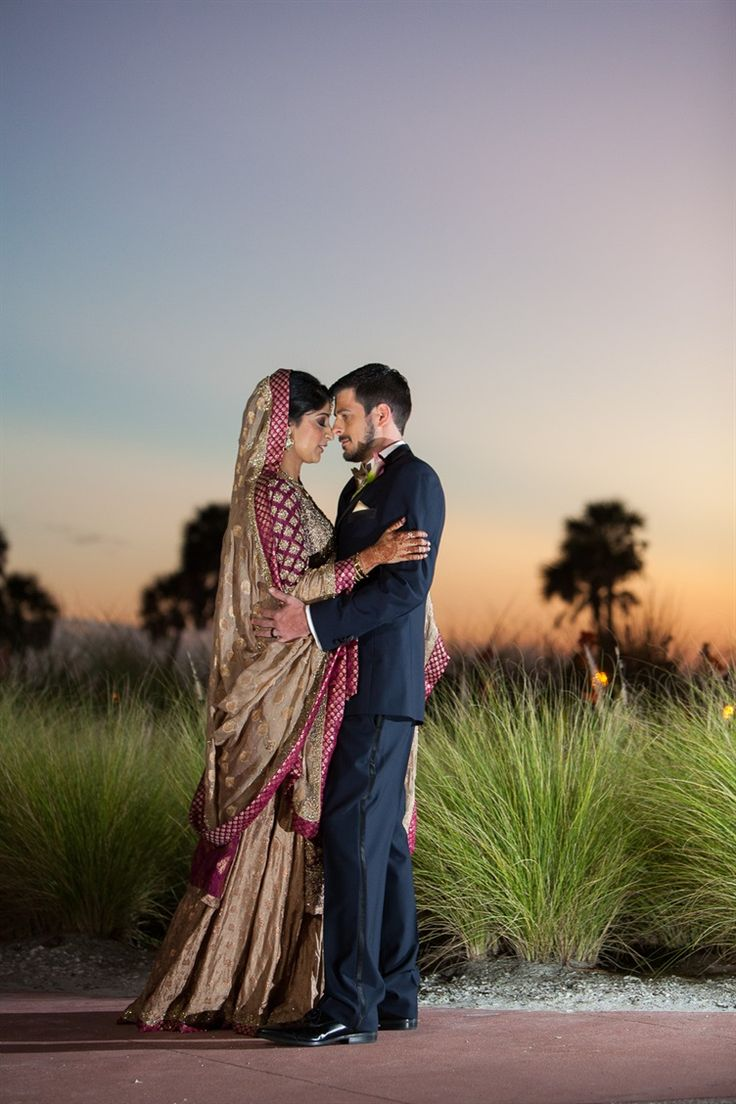 Oh emm gee - so romantic | Pakistani American wedding in Florida by Kimberly Photography