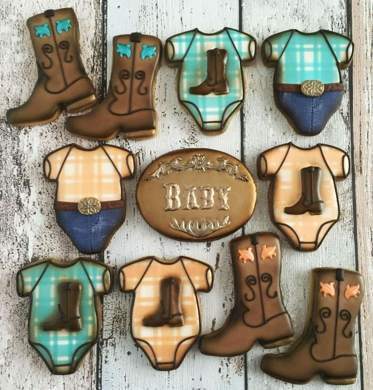 Cowboy Baby Shower Cookies | Cookie Connection