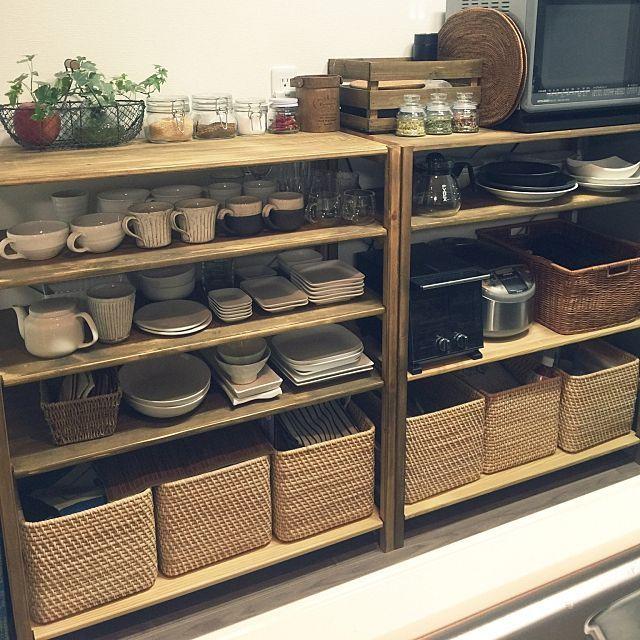 その他で、Otherのキッチン収納/無印My Shelfリメイク/お気に入りの食器たちについてのインテリア実例を紹介。(この写真は 2015-03-29 17:51:29 に共有されました)