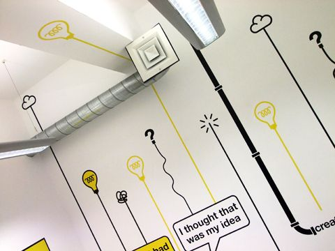 20 best Wall Illustration images on Pinterest Office mural