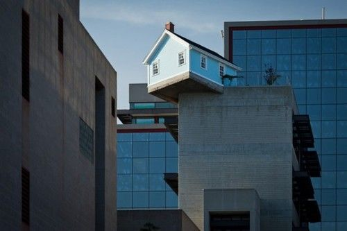 A House on the Roof of a 7 Story Building at UC San Diego