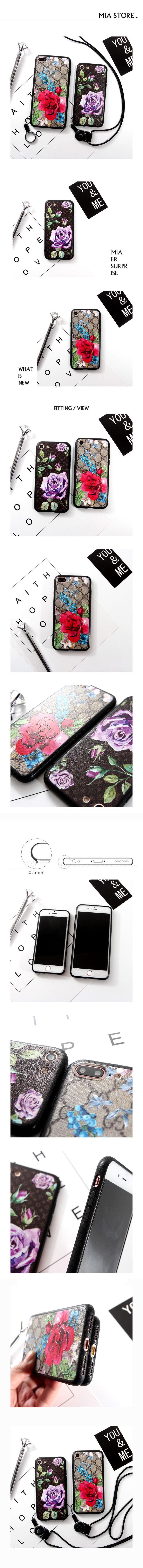 海外人気ブランドLV iphone7 モノグラム風ケース ヴィトン アイフォン7/6s PLUS カバー GUCCIグッチ IPHONE6Sケース シリコン製 ストラップ付き 後払い対応 送料無料
