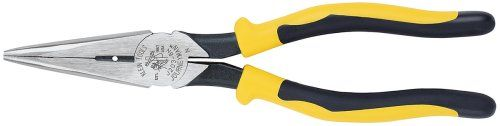 Klein Tools J203-8N 8-Inch Journeyman Heavy Duty Long Nose Pliers, Yellow and Black,Yellow/Black,Small. For product & price info go to:  https://all4hiking.com/products/klein-tools-j203-8n-8-inch-journeyman-heavy-duty-long-nose-pliers-yellow-and-blackyellowblacksmall/