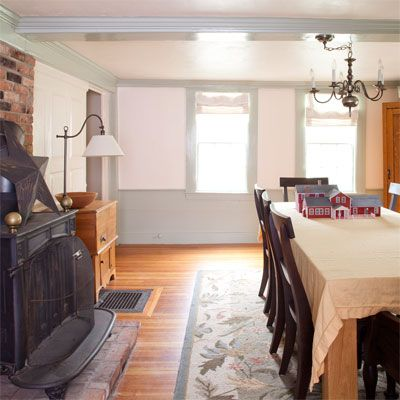 existing dining room in the bedford house before this old house remodel