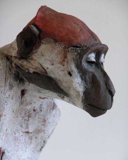 nichola theakston ceramics - new work. Mangabey No 1