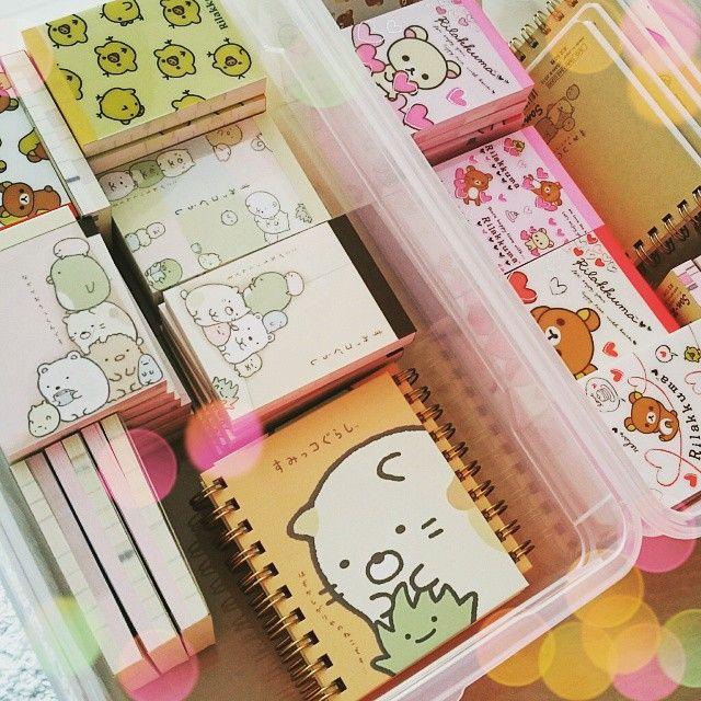 Profiter du samedi pour ranger et réorganiser  Les petits bloc notes San-x sont bien rangés !