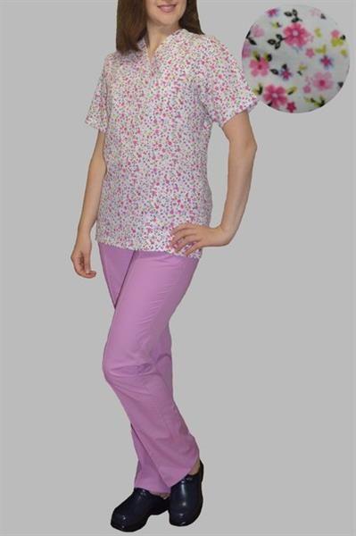 Хирургический костюм в цветочек