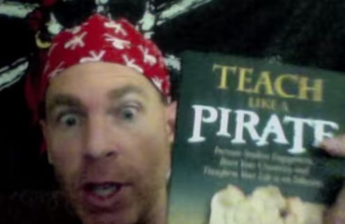 Math Coach's Corner: Teach Like a Pirate: The 5 Word GPS Challenge.  The pirate is back and has a great challenge for teachers everywhere!!
