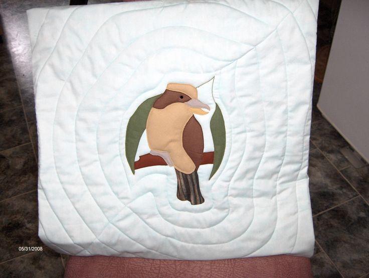 Kookaburra applique cushion - BaRb