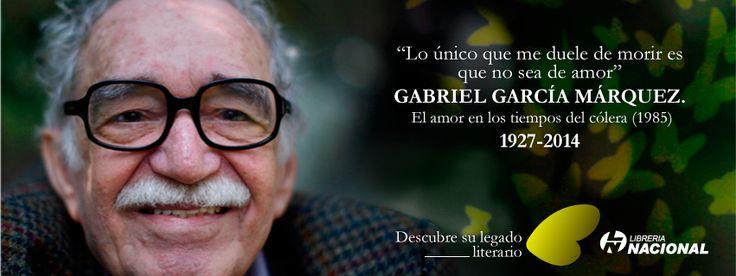 """""""Lo único que me duele de morir es que no sea de amor"""" #GraciasGabo. Su legado literario en nuestra tienda virtual>>http://j.mp/RIDg8k"""
