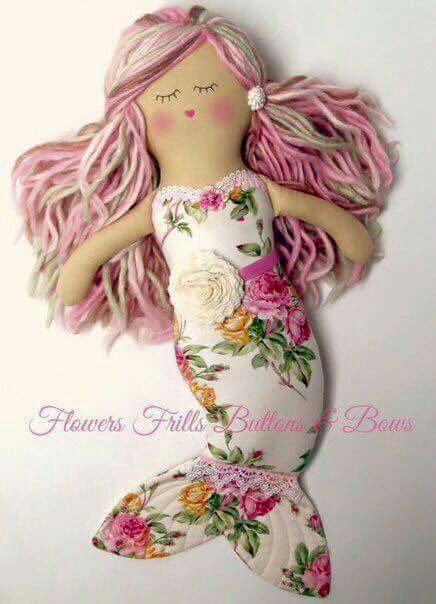 Cute mermaid fabric merbaby.