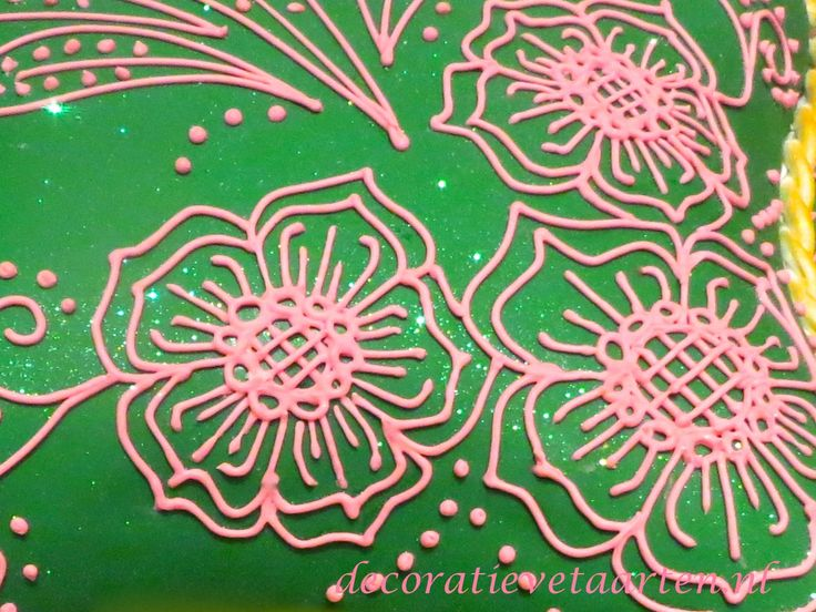 Taart 'Henna feest' - detail