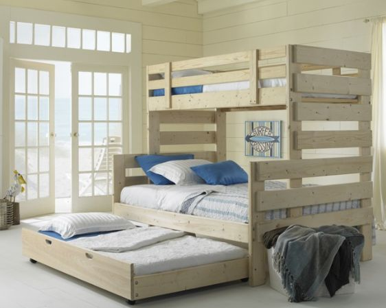 Twin Over Full Bunk Bed with Trundle Bed. To purchase call 1-800BunkBed or click the image above.