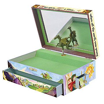 Open the lid of this gorgeous children's music box by Enchantmints to see a…