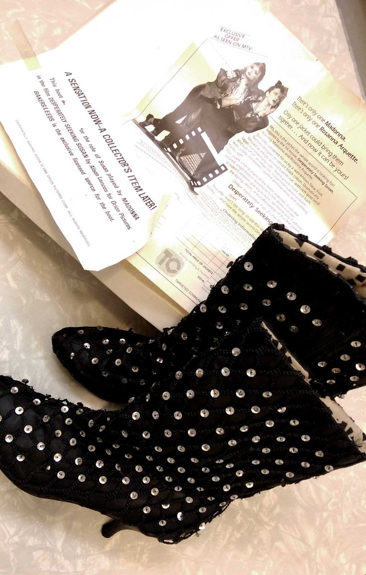 80s desperately seeking susan movie boots booties